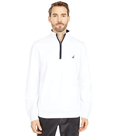 Nautica 1/4 Zip Knit Sweater (Bright White) Men