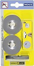 Wenko 22513100 Express Loc Adapter glanzend, set van 2, lijmpush pads, bevestigen zonder boren, kunststof, 5,5 x 5,5 x 2,7...