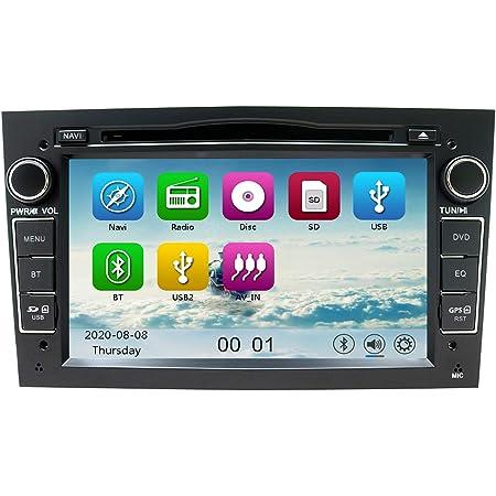 Nvgotev Auto Audio Stereo Kopfeinheit Passt Für Opel Vauxhall Dvd Player 7 Zoll Hd Touchscreen Gps Navigation Mit Bt Lenkradsteuerung Schwarz Navigation