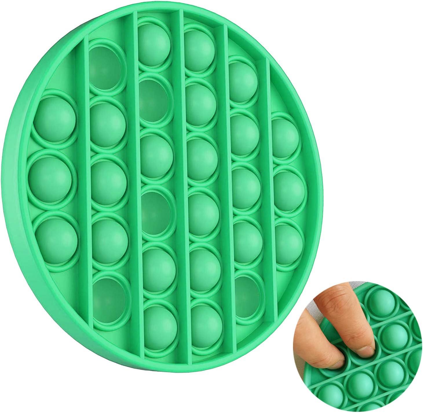 Gr/üner Kreis Autismus Besondere Bed/ürfnisse Stressabbau Angst Linderung Spielzeug Tanku Toys Push Pop Bubble Sensory Zappeln Spielzeug Bubble Popping Sensory Fidget Schreibtisch Spielzeug