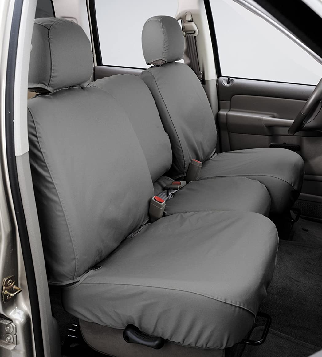 Covercraft SS8429PCGY SeatSaver Second Row Custom Fit Seat Cover for Select Chevrolet Silverado 1500/GMC Sierra 1500 Models - Polycotton (Grey)