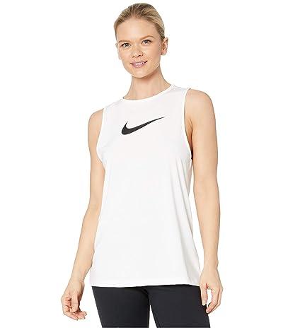 Nike Pro Tank Essential Swoosh (White/Black) Women