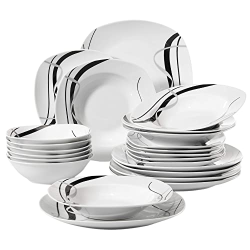 Black And White Dinner Sets Amazoncouk