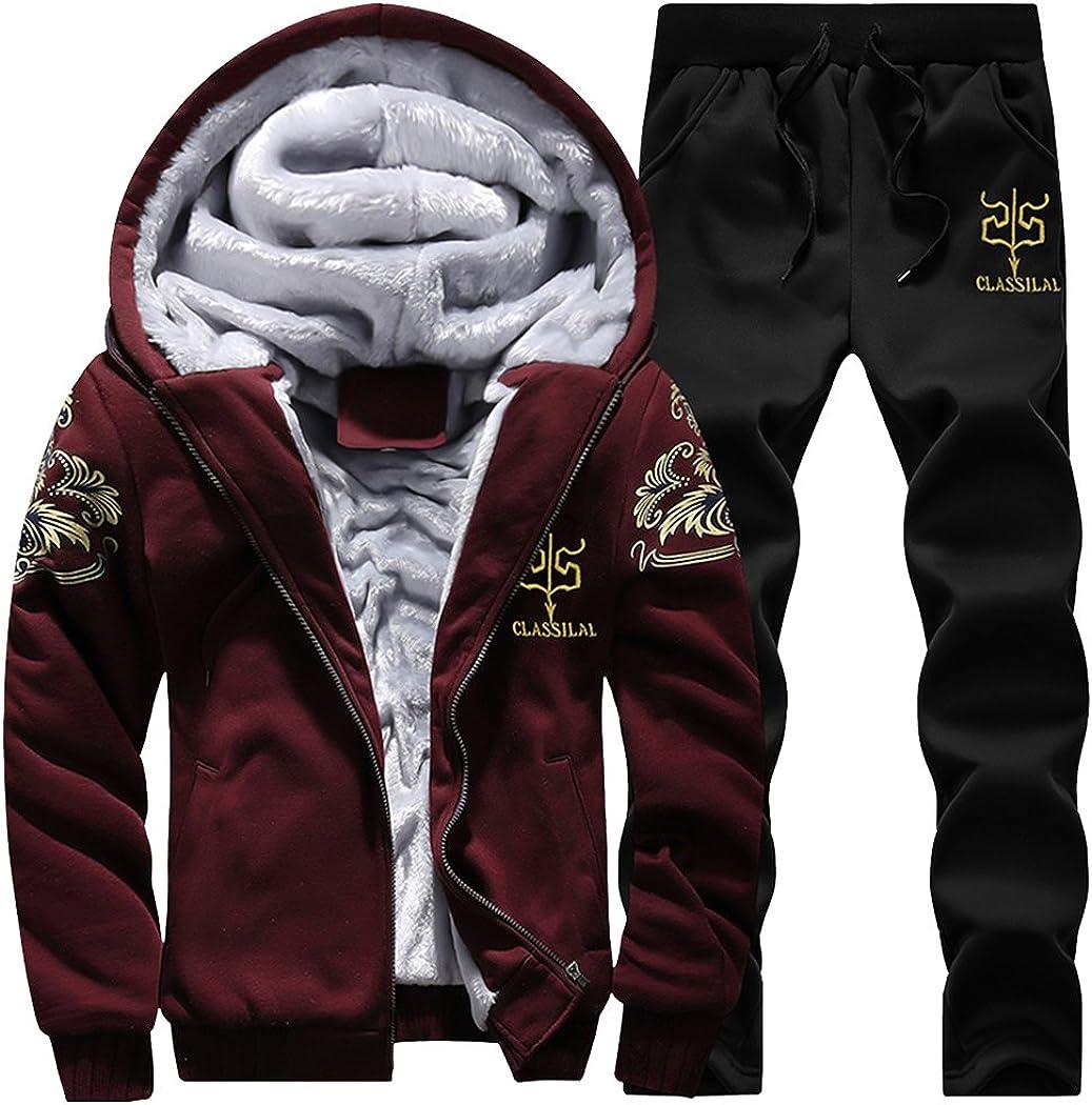 Modern Excellence Fantasy Men's Winter Fleece Sweatsuit Hoodies Lined Easy-to-use Camo