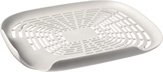 Tovolo Prep N' Rinse Flat Colander, Easy Food Transferring, Perfect for Rinsing and Draining, White