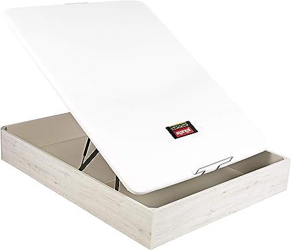 PIKOLIN Canapé/Abatible NATURBOX Color Glaciar (Base de Madera para colchón con Almacenamiento/Wooden Base for Mattress with Storage) Altura: 32 cm. ...