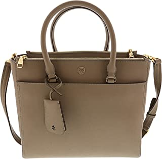 654ad7aa6 Tory Burch Women s Robinson Double-Zip Tote Leather Top-Handle Bag