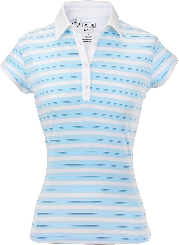 adidas Womens ClimaLite Merchandising Stripe Polo