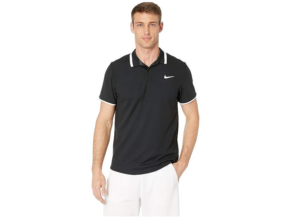 Nike NikeCourt Advantage Polo Classic (Black/Black/White/White) Men
