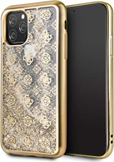CG MOBILE Case for iPhone 11 Pro Guess Glitter Peony 4G Gold