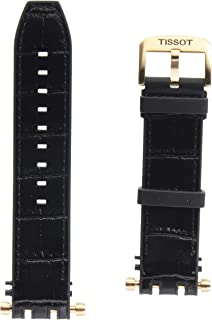 Black Rubber and Leather Strap, Rosa Pvd Buckle
