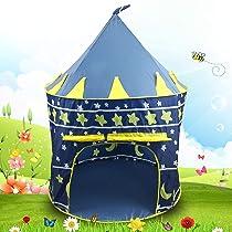 Sasimo Hut Type Kids Toys Jumbo Size Play Tent House For Boys and Girls (Baby Toys) (Navyblue)