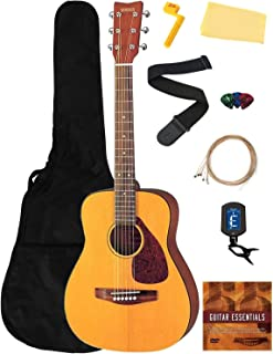 Yamaha JR1 Junior-Size 3/4-Size Acoustic Guitar Bundle with Gig Bag, Tuner, Strap, Strings, Picks, Instructional DVD, and ...