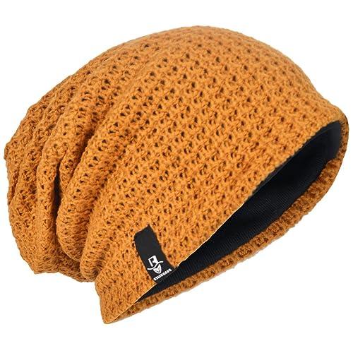 9590114cb896bc Men Oversize Beanie Slouch Skull Knit Large Baggy Cap Ski Hat B08