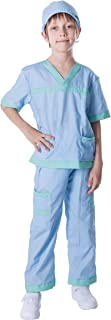 Dr. Scrubs Deluxe Kids Toddler Vet Costume Set in Blue for Scrub's Pretend Play, Halloween Jr. Doctor Dress Up Party