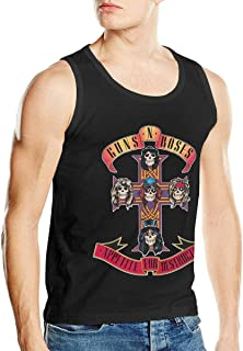 Tammy W Nash Guns N' Roses Men's Muscle Gym Workout Tank Tops Bodybuilding Fitness T-Shirts Black