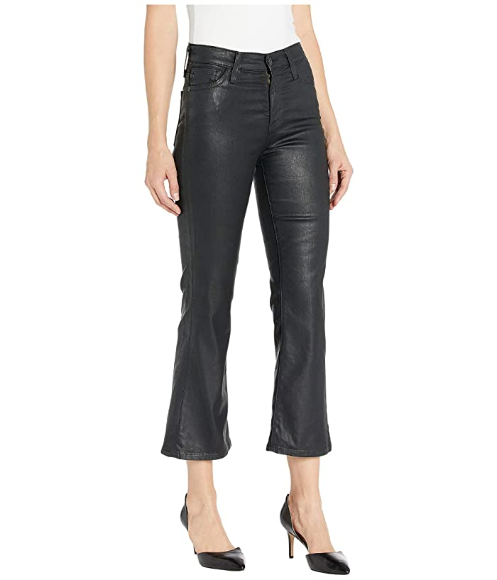 AG Adriano Goldschmied  Quinne Crop in Leatherette Light/Super Black (Leatherette Light/Super Black) Womens Casual Pants