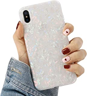 Compatible with iPhone XR Cases Cute,Glitter Phone Case Girls Women Pretty Design Protective Slim Shockproof Pearly-Lustre Shell Bumper Soft Silicone TPU Cover for iPhone XR 6.1