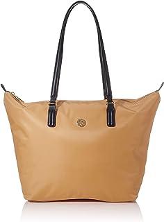 حقيبة اليد بوبي للنساء من تومي هيلفيغر، بلون كاكي - AW0AW07956