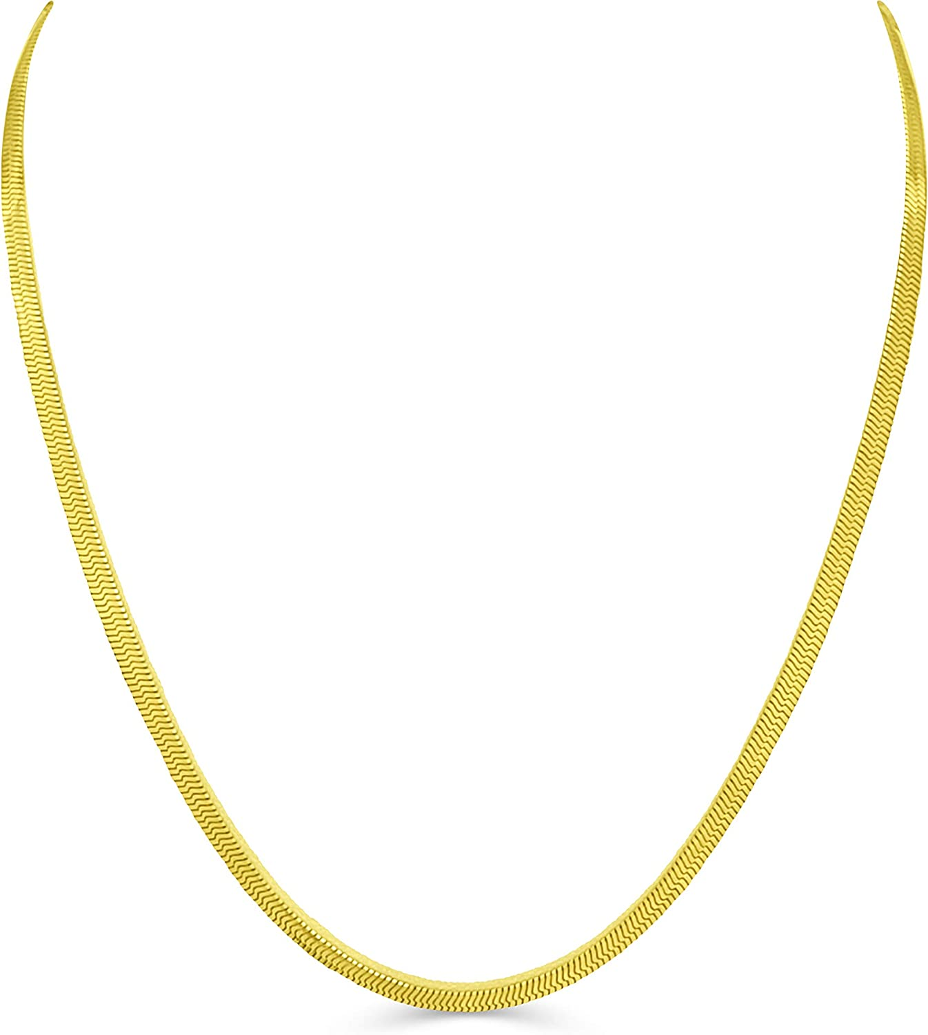 Life Time NECKLACE 3mm Gold herringbone Chain choker necklace for men women REPLACEMENT