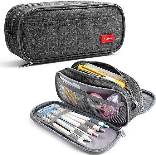Trousse à Crayons Grande Capacité Pochette Sac Porte-stylo 3 Compartiments Fournitures Scolaires Papeterie Organisate...