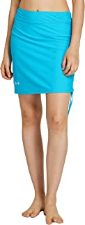 Cityoung Womens Swim Skirt Waistband Mid Length Skirted Bikini Bottom Cover-up Beachwear