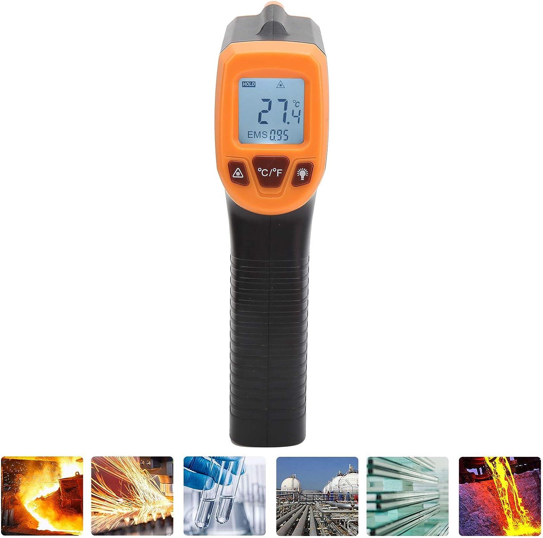 termometro a infrarossi Pistola per la misurazione della temperatura blu termometro industriale con display LCD GM320S per tubi dellacqua calda Superficie delle parti del motore