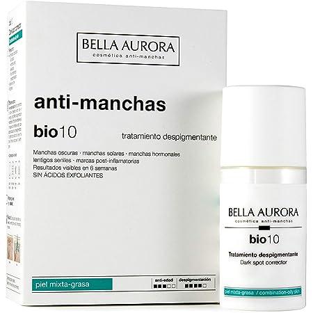 Bella Aurora Bio10 Serum Antimanchas Piel Mixta-Grasa   Tratamiento despigmentante Facial, 30 ml