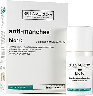 Bella Aurora Tratamiento Anti-Manchas Cara Piel Mixta-Grasa Despigmentante Facial Crema Quita-Manchas Cara Bio 10 Arom...