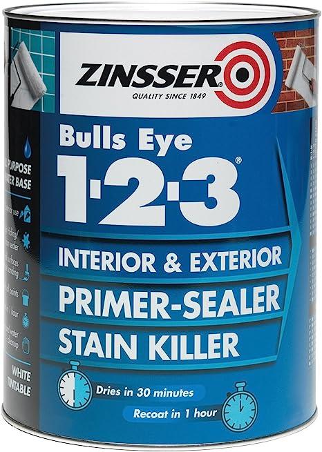 Zinsser 123 Bulls Eye Primer/Sealer Paint 1 Litre