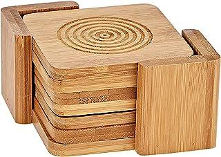 Harmony 2724623298597 Wood Coaster 11.5 x 7 cm, Brown