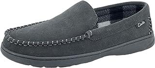 حذاء رجالي Clarks Freddie Suede بدون كعب للمنزل للاستخدام في الأماكن الداخلية والخارجية مقاوم للانزلاق نعل خارجي مرن مريح