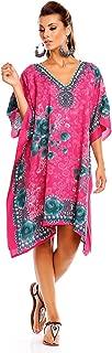 Looking Glam New Ladies Kimono Tribal Ethnic Print Tunic Kaftan Oversized Throw Dress