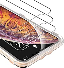 UNBREAKcable 3-Pack Screen Protector for iPhone Xs Max, iPhone 11 Pro MAX Screen Protector - Premium 9H Hardness HD Tempered Glass, Bubble-Free, Shatter-Proof, Free Installation Frame, Case-Friendly