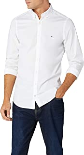 Tommy Hilfiger Homme Chemise Ciel Slim Achat Stretch Fit