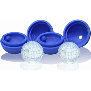Sphere Silica Gel Ice Maker for Cool Drinks and Baking,Silica Gel Star Wars Ice Hockey Ice Cream (2PACK)