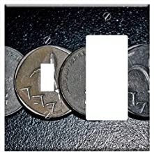 1-Toggle 1-Rocker/GFCI Combination Wall Plate Cover - Shekel New Shekel Currency Israel Israeli Cur