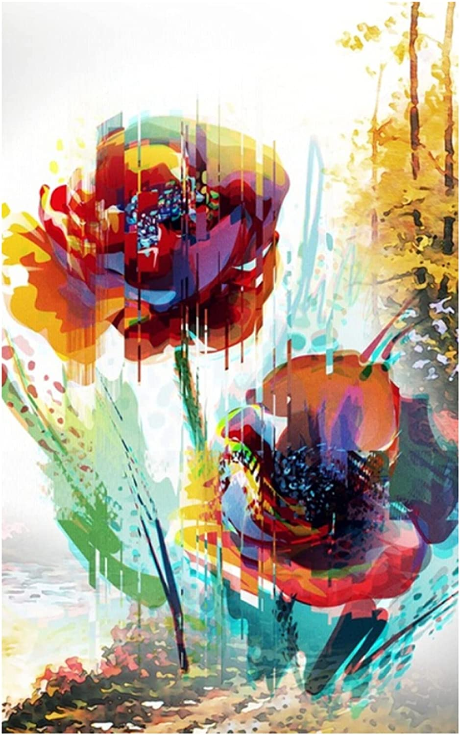 Limited price Canvas Print Plant Oil Painting favorite Still Art Abstract Life C Flower