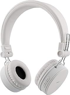 STREETZ HL-427 justerbart pannband över örat hopfällbara hörlurar – vit