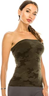 Kurve Medium Length Tube Top with Built-in Shelf Bra, UV Protective Fabric UPF 50+ (Made with Love in The USA)