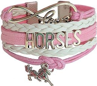 Horse Gift for Girls, Gift Wrapped Horse Bracelet, Horse Jewelry, Infinity Bracelet Horse Charm, Teen Girl Gifts for pony loving girls, Birthday gifts for girls, horse gifts