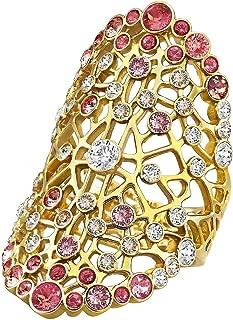 Swarovski Elinor Gold Plated Crystal Fashion Ring - Size 19 mm