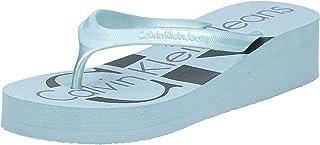 Calvin Klein Talle Metallic Jelly, Women's Fashion Flip Flops