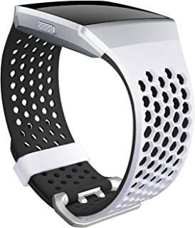 SKYLET Bands Compatible with Fitbit Ionic, Soft Silicone Breathable Wristband Compatible with Fitbit Ionic Smart Watch wit...