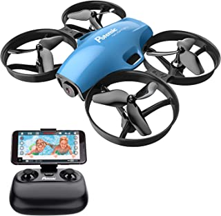 Potensic A30W WiFi FPV Drone 720P HD Camera, RC Quadcopter for Beginners with Altitude Hold, Headless Mode, One Button Take Off/Landing, Emergency Stop-Blue
