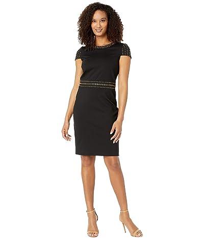 MICHAEL Michael Kors Heat Grommet Cap Sleeve Dress (Black) Women