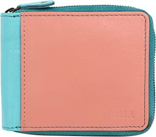 Posha Green Leather Women's Wallet (WLFPI042)