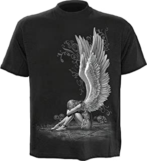 Mens - Enslaved Angel - T-Shirt Black