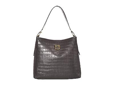 Furla Belvedere Medium Hobo (Asfalto) Handbags