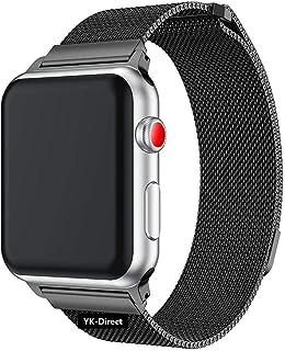 Apple watch バンド,iWatch ベルト、apple バンドミラネーゼループ コンパチブルアップルウォッチバンド コンパチブル アップルウォッチ4 コンパチブルapple watch series4/3/2/1に対応 ステンレス留め金製(42mm/44mm,スペースグレー)